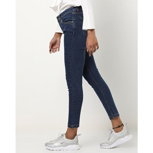 Freakins Cropped Slim-Fit Jeans