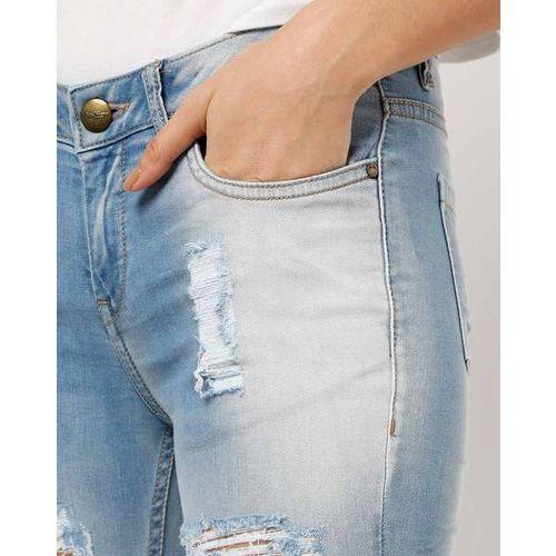 Ms.Taken Slim-Fit Lightly Washed Distressed Jeans