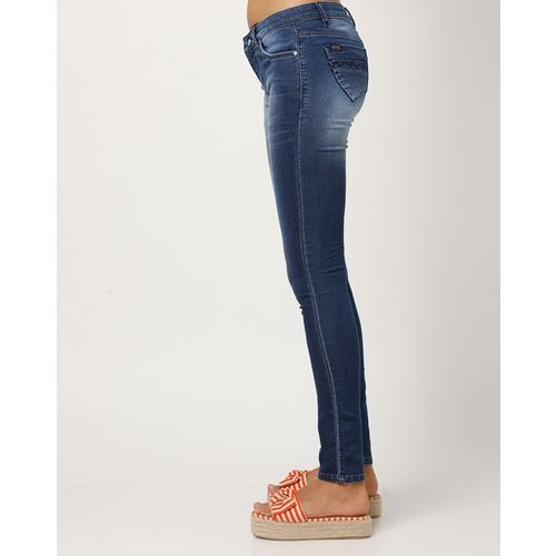 Devis Mid-Rise Lightly Washed Skinny Jeans