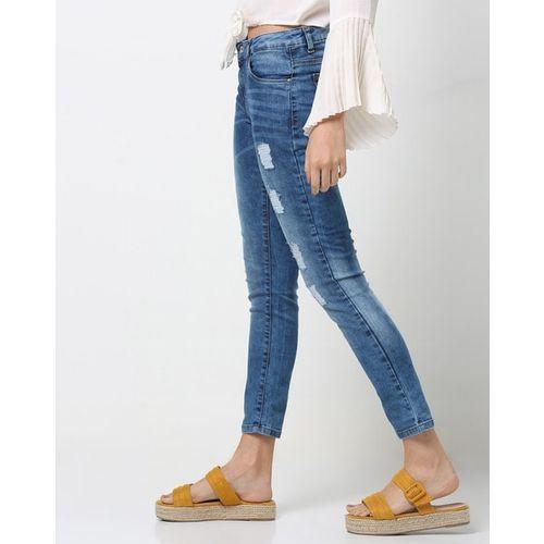 SPYKAR Lightly Washed Distressed Skinny Jeans