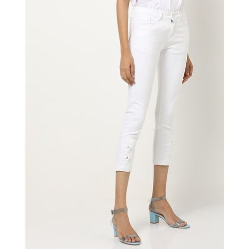 Devis Mid-Rise Cropped Skinny Jeans
