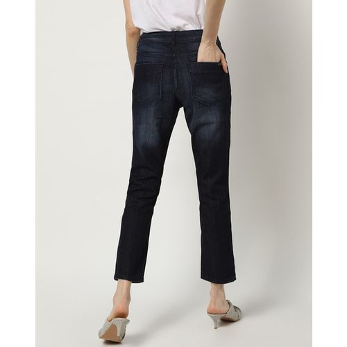 PROJECT EVE WESTERN WEAR Lightly Washed Slim Cropped Jeans