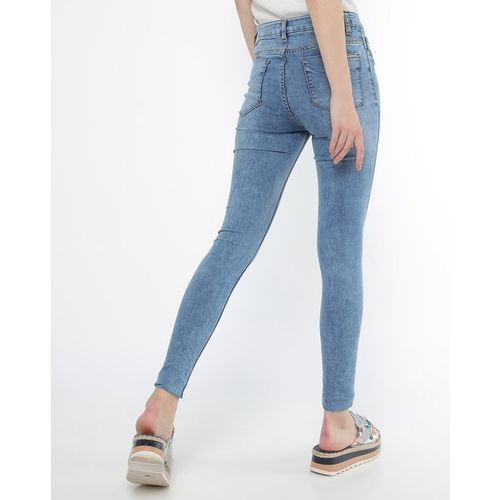 PROJECT EVE WESTERN WEAR Lightly Washed Ankle-Length Skinny Jeans