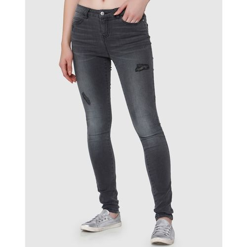 Vero Moda Lightly Washed Slim Fit Jeans with Distress