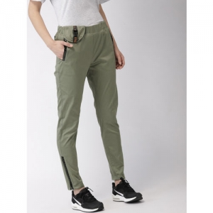 FOREVER 21 Kendall + Kylie Women Gold-Toned Regular Fit Solid Cigarette Trousers