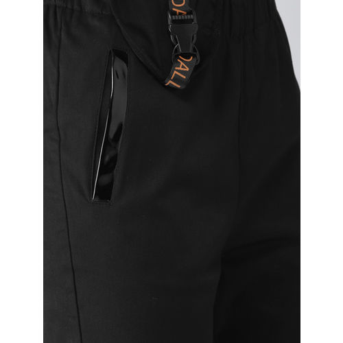 FOREVER 21 Kendall + Kylie Women Black Regular Fit Solid Cigarette Trousers