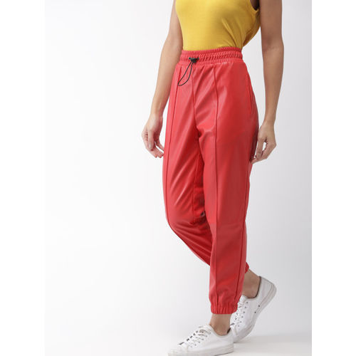 FOREVER 21 Women Red Regular Fit Solid Joggers