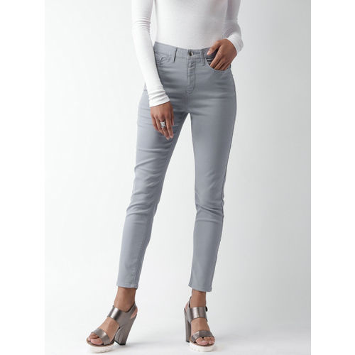 FOREVER 21 Women Blue Regular Fit Solid Regular Trousers
