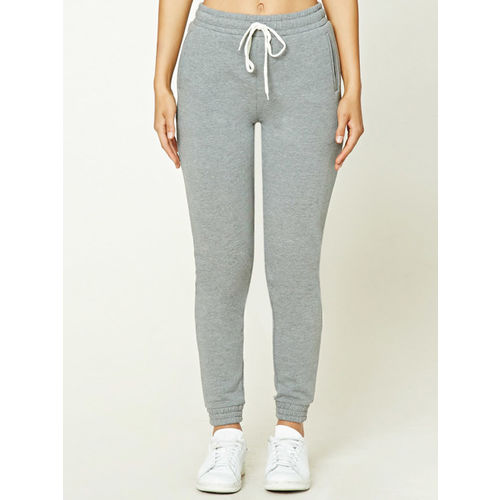 FOREVER 21 Women Grey Regular Fit Solid Joggers