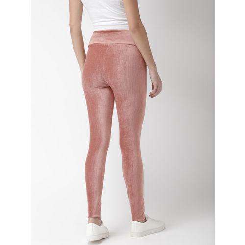 FOREVER 21 Women Pink Regular Fit Solid Regular Trousers