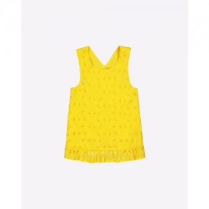 Mothercare Broderie Sleeveless Top with Frilled Hem