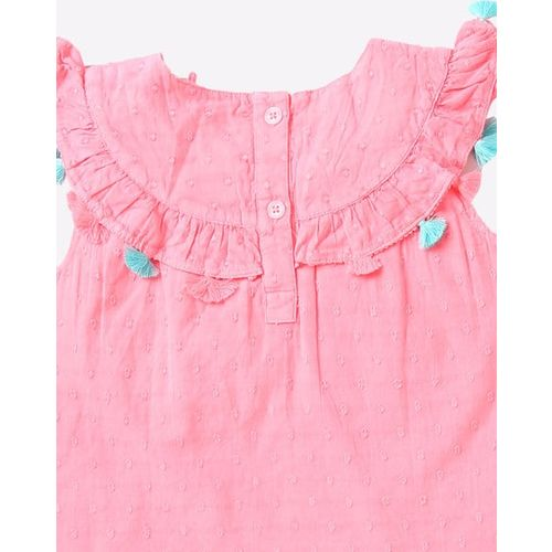Marks & Spencer Ruffled Tunic with Tassels