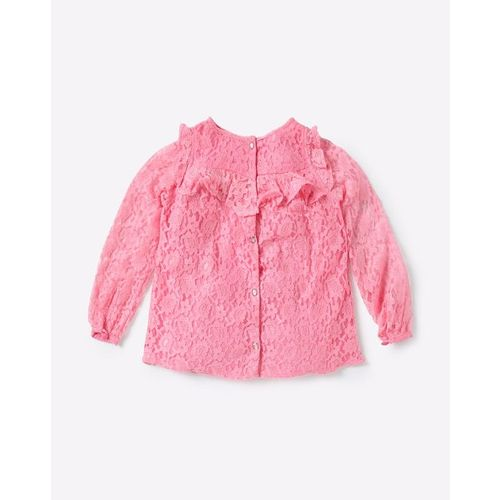 UFO Textured Top with Ruffles