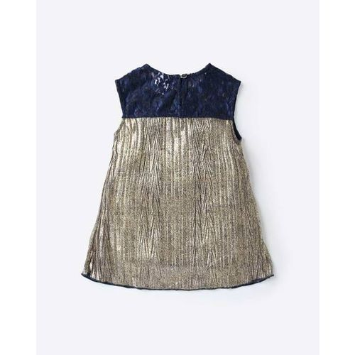 612 League Sequinned Top with Lace Panels