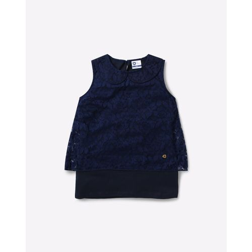 612 League Textured Top with Peter Pan Collar