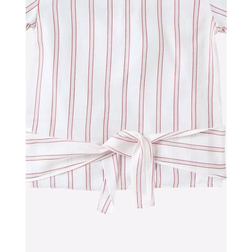 AJIO Striped Top with Bell Sleeves