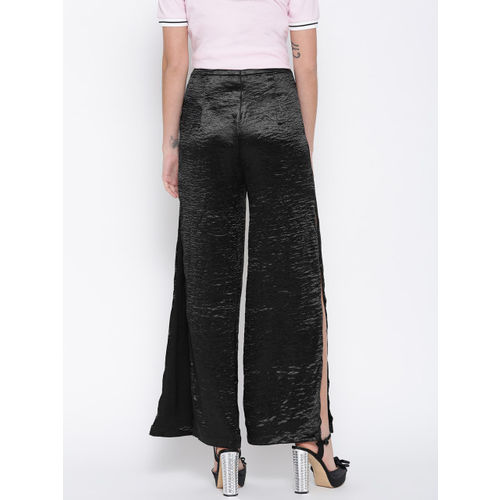 FOREVER 21 Women Black Solid Trousers