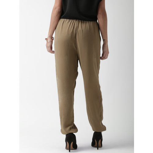 FOREVER 21 Women Brown Regular Fit Solid Regular Trousers