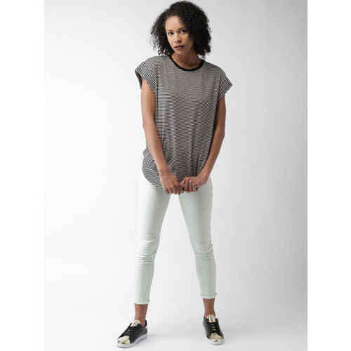 FOREVER 21 Women Mint Green Skinny Fit Solid Trousers