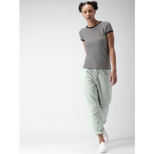 FOREVER 21 Women Green Regular Fit Solid Regular Trousers