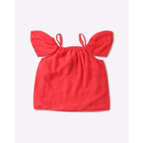 KG FRENDZ Cold-Shoulder Top with Strappy Sleeves