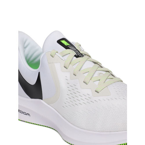 Nike Men White ZOOM WINFLO 6 Running Shoes