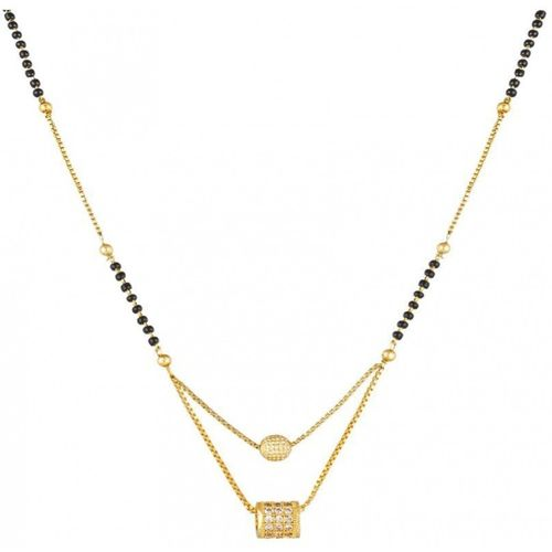 DARSHINI DESIGNS gold plated mangalsutra for women Alloy Mangalsutra