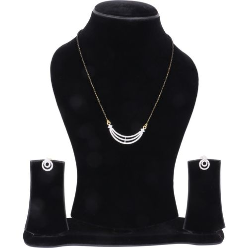 DARSHINI DESIGNS Alloy Jewel Set(Black, White)
