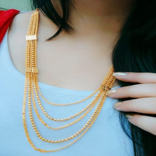 Darshini Designs Diamond Gold-plated Plated Alloy Necklace Set