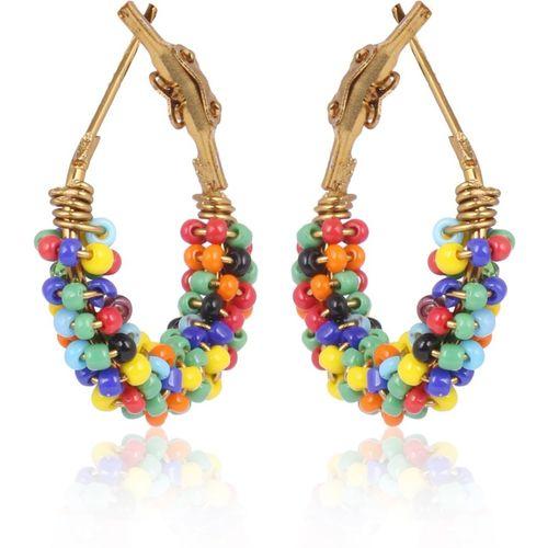 DARSHINI DESIGNS beads53 Beads Alloy Hoop Earring