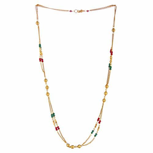 Darshini Designs Gold Plated Long Chain Necklace for Women