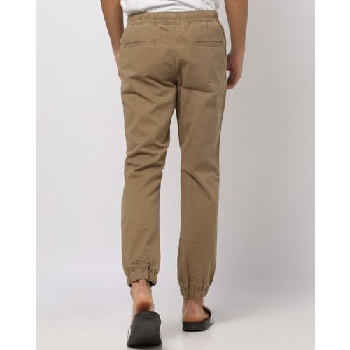 DNMX Mid-Rise Flat-Front Joggers with Insert Pockets