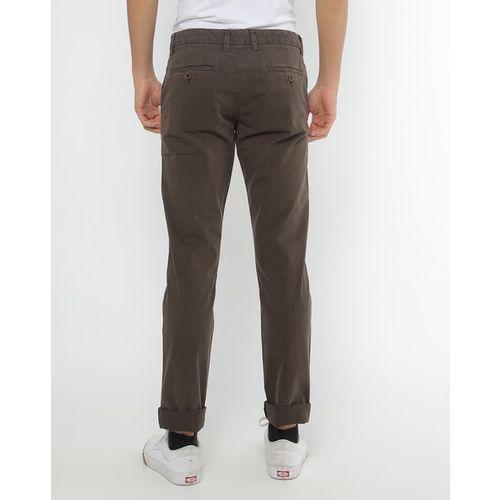 INDIAN TERRAIN Mid-Rise Flat Front Chinos with Belt Loops