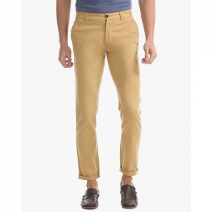 Arrow Sports Flat-Front Trousers with Slant Pockets