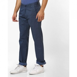 NUMERO UNO Low-Rise Slim Fit Trousers with Slip Pockets
