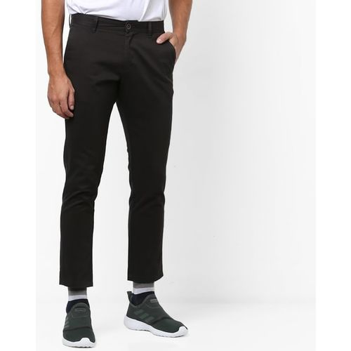 NETPLAY Cropped Flat-Front Chinos with Insert Pockets