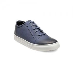 Franco Leone Men Blue Leather Sneakers