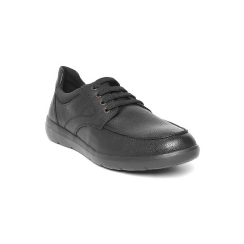 Geox Men Black Leather Sneakers
