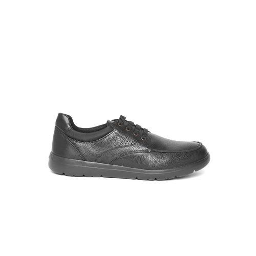 Geox Men Black Leather Sneakers
