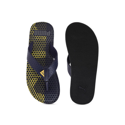 Puma Men Navy Blue Printed Thong Flip-Flops
