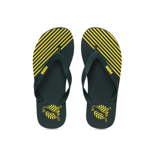 Puma Unisex Green & Yellow Gear V1 IDP Ponderosa Pine Thong Flip-Flops