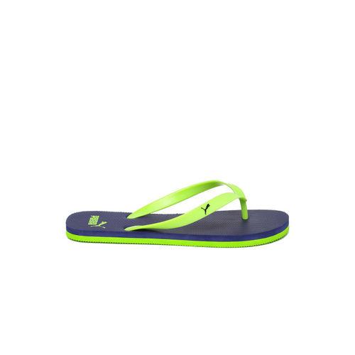Puma Men Neon Green & Navy OdiusDP Flip-Flops