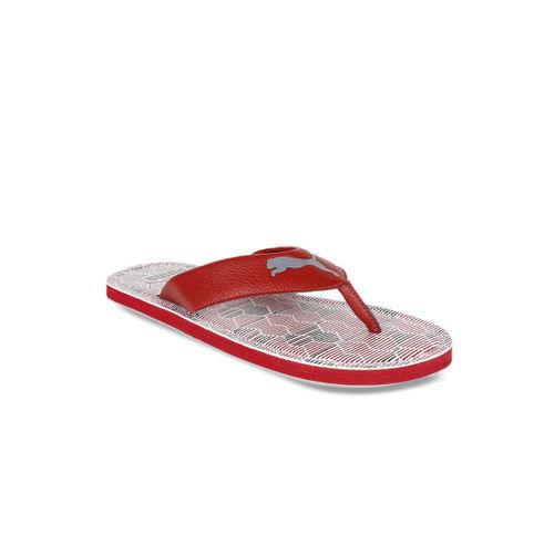 Puma Men Red Printed Thong Flip Flops