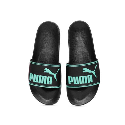 Puma Unisex Black Printed Leadcat Sliders