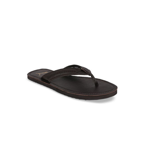 Puma Men Brown Printed Java 2 IDP Thong Flip-Flops