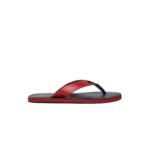 Puma Men Navy Blue & Red Colourblocked Wink Duo IDP Thong Flip-Flops