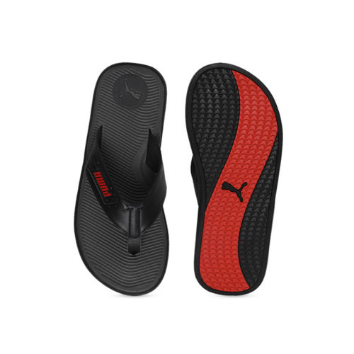 Puma Men Grey Solid Thong Flip-Flops 33983701-Dark Shadow