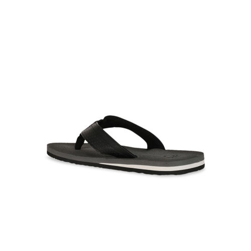 United Colors of Benetton Men Grey Printed Thong Flip-Flops