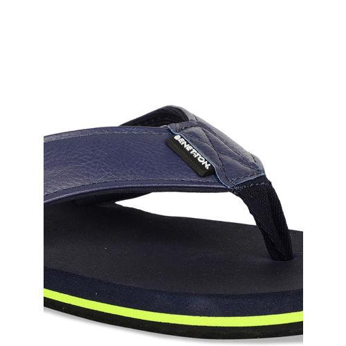 United Colors of Benetton Men Navy Blue Solid Thong Flip-Flops