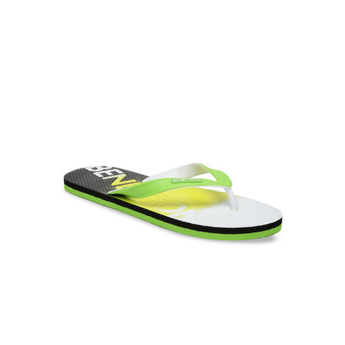 United Colors of Benetton Men Multicoloured Printed Thong Flip-Flops
